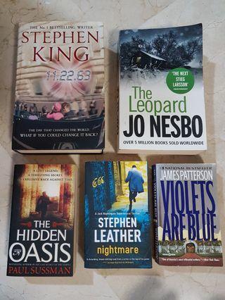 💖Friction STEPHEN KING/ James Patterson etc Books