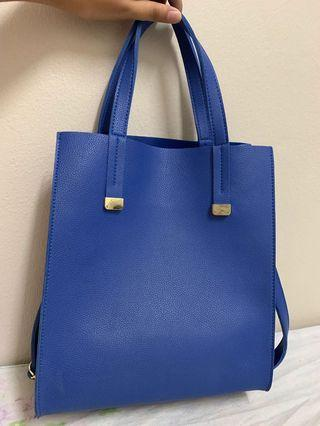 Blue Square handbag