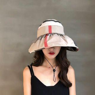🚚 FREE 🚚: Korea style Beige foldable sun hat, fashion and full coverage.Daily use and Outdoor