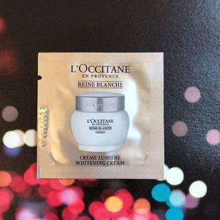 HK$5/ 包/ 1.5ml L'OCCITANE Reine Blanche Whitening Cream 白皇后亮白面霜 (Loccitane sample) 試用裝