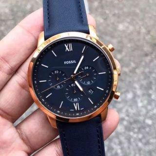 ** Dashing SALES ** Fossil Neutra Chronograph Navy Leather Watch FS5454
