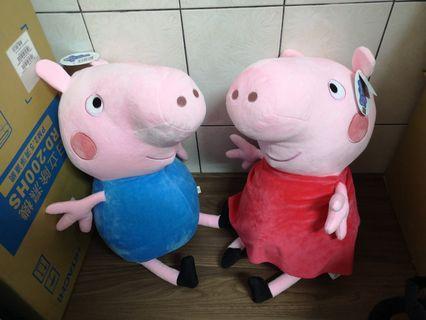 佩佩豬玩偶一對