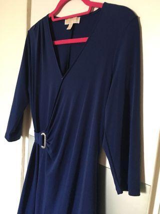 Super sale❤️Michael Kor Royal Blue dress with pleat detail