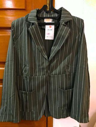 Set Blazer dan celana import china warna hijau Army #mauvivo