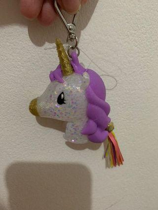 Gantungan Untuk Bath Body Works Hand Sanitizer ( Pocket Bag Anti Bacterial ) Unicorn Charm Kuda Poni