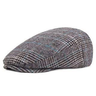 Hats for Men Women High Quality Casual Cotton Women Beret Caps Adjustion Plaid Mens Flat hat