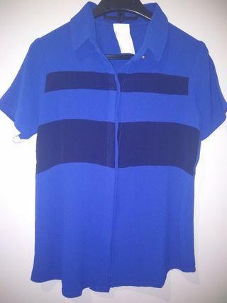 #BAPAU kemeja biru hitam