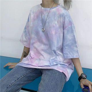 [PO] Korean summer style tie dye top