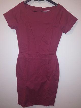 #BAPAU Maroon Dress