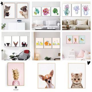 🚚 New arrival: wall Paper, painting, decoration with/without frame