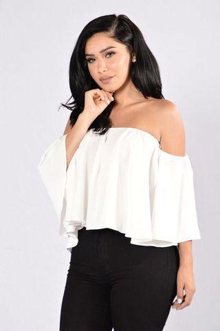 Fashion nova off shoulder white top