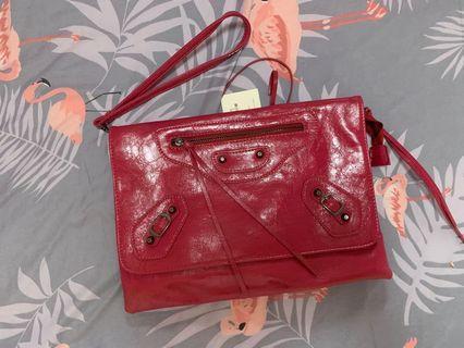 桃紅個性手拿包
