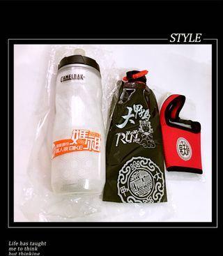 全新客製保冷噴射水瓶BUFF媽祖萬人崇BIKE/600ml、腳踏車隨身瓶袋、媽祖飲料提帶