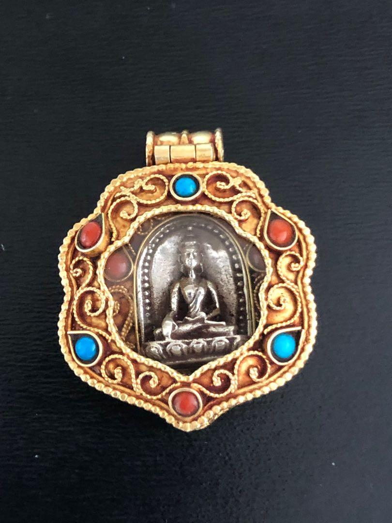 西藏全手工純銀925佛祖吊墜