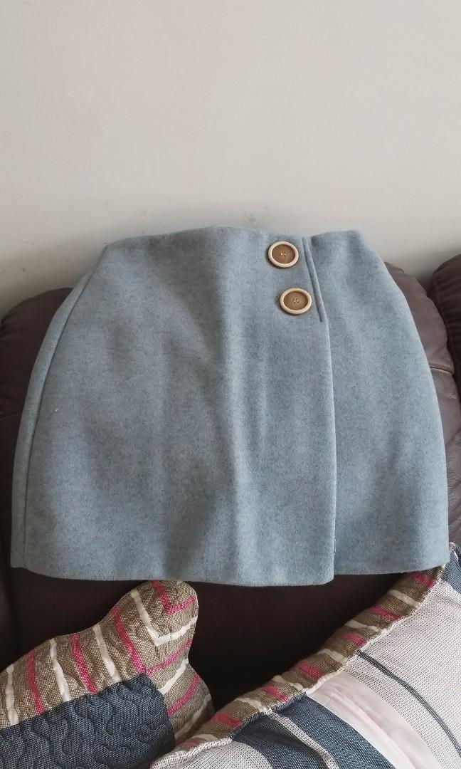 藍色秋冬半身裙