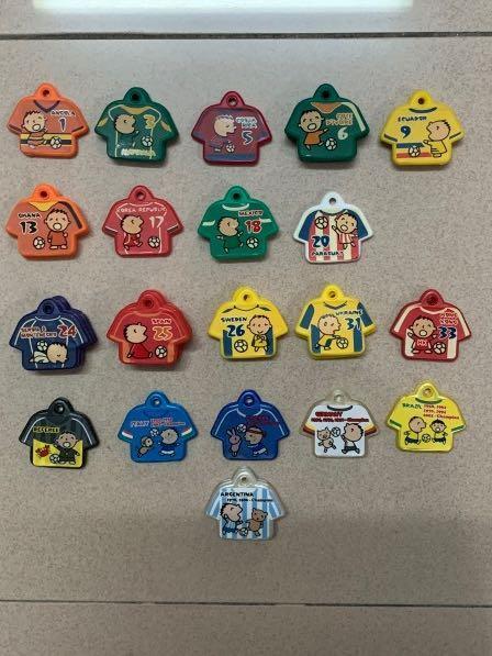 大口仔 絕版7-11 x SANRIO '06年世界盃 鎖匙套