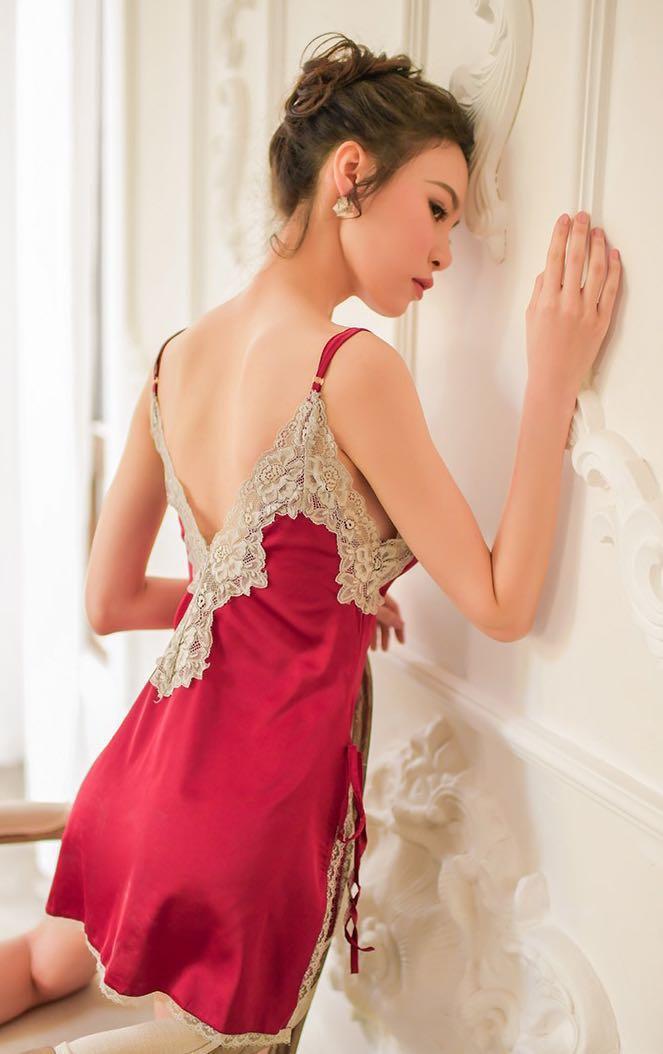 性感睡衣 性感睡裙 紅色情趣內衣