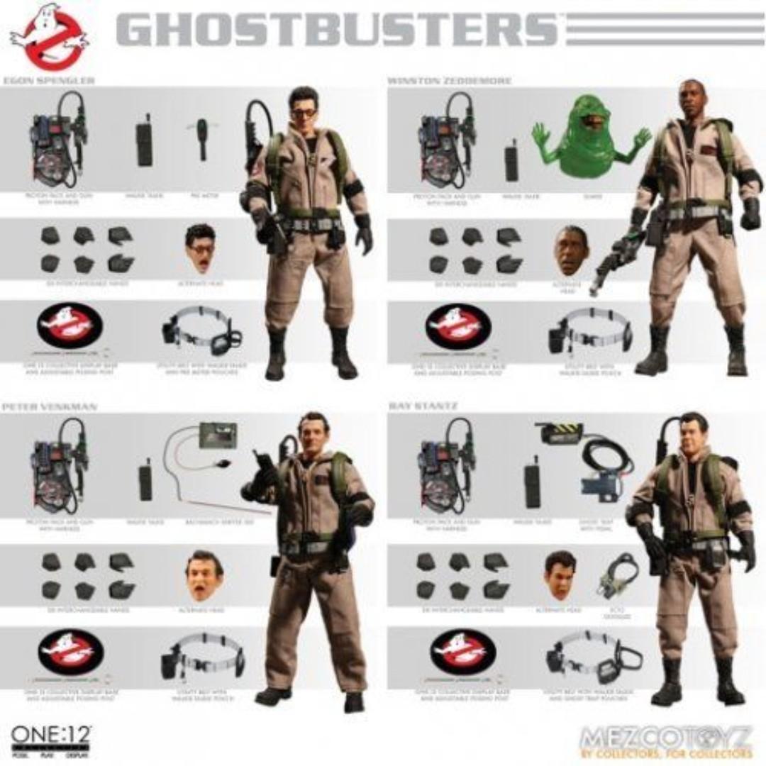 全新未開封現貨  Mezco One: 12 Collective Ghostbusters 捉鬼敢死隊 Deluxe Box Action Figure Set