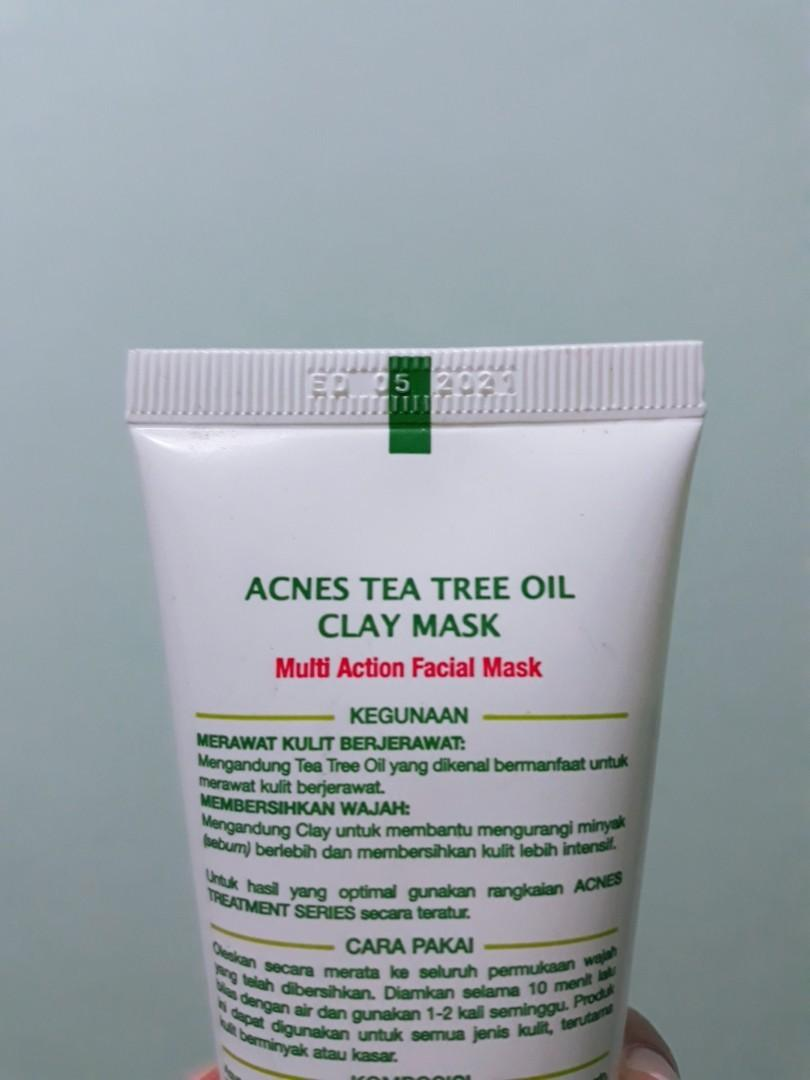 Acnes tea tree oil clay mask