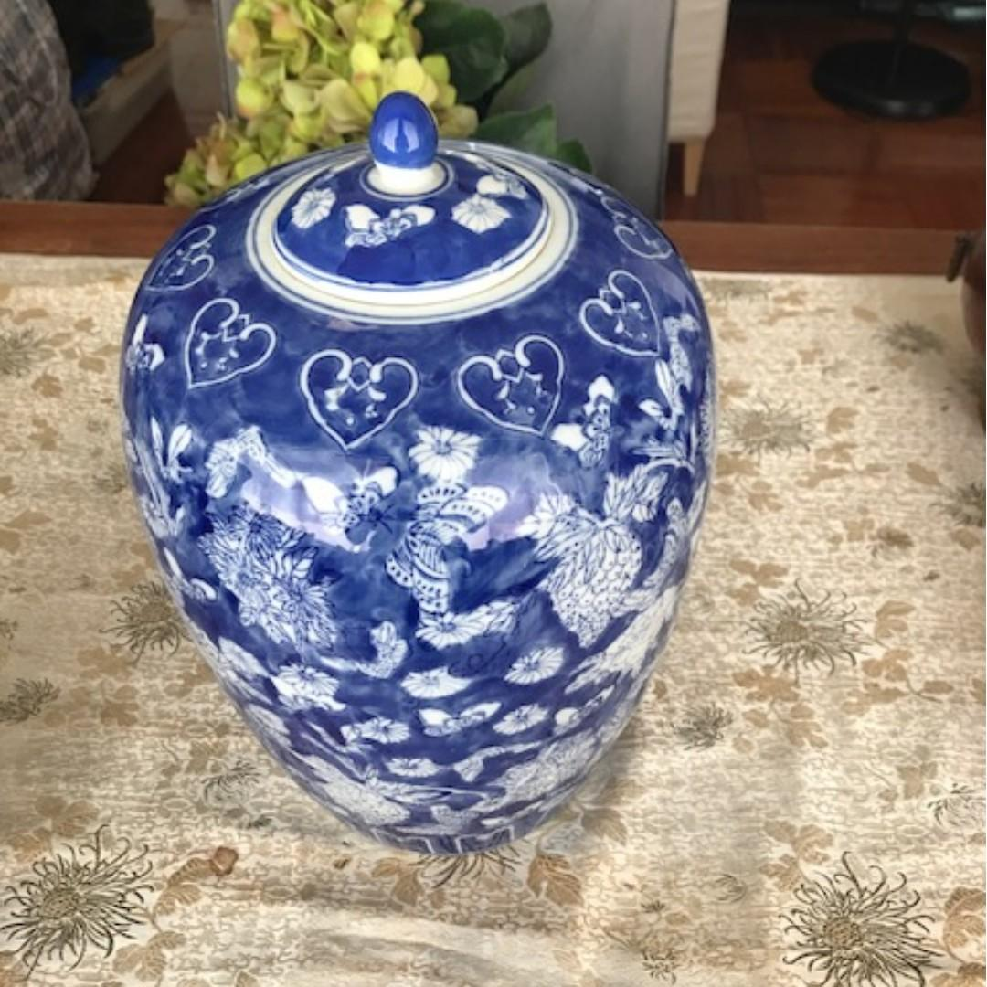 Antique Porcelain Vase Set (two pieces)