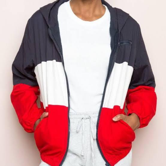 Authentic Brandy Melville Krissy colourblock jacket in red