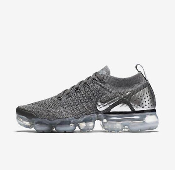 newest collection 2b00f 3f4bd Authentic Nike Air Vapormax flyknit 2 women running shoe dark grey chrome.