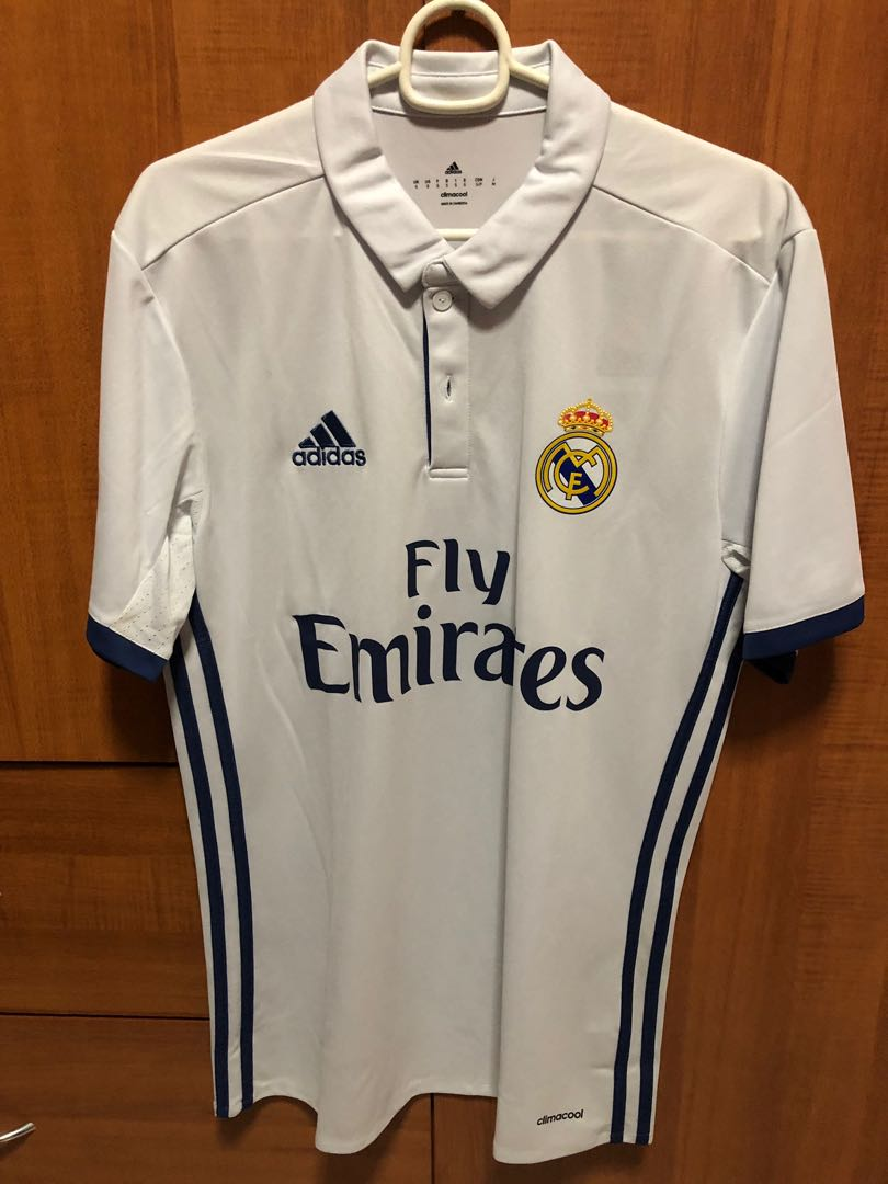 f87e1046340 Authentic Real Madrid 16-17 Adidas Home Jersey, Sports, Sports ...