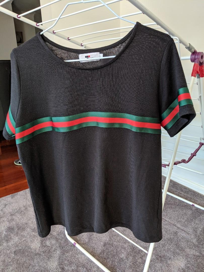 Back strip tshirt