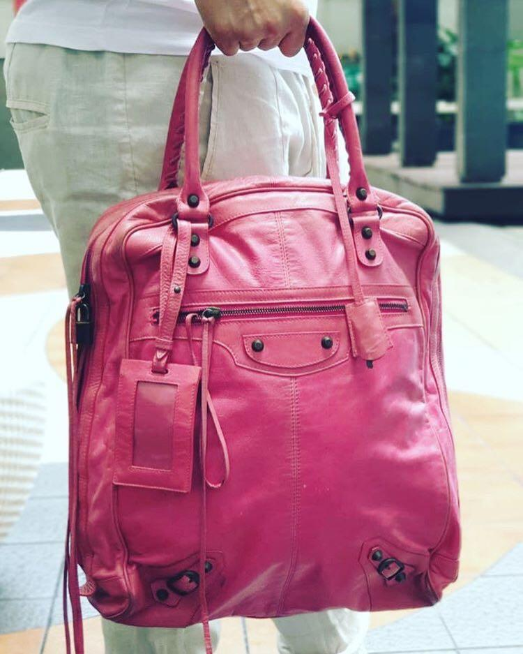 #BAPAU Balenciaga Pink tote bag