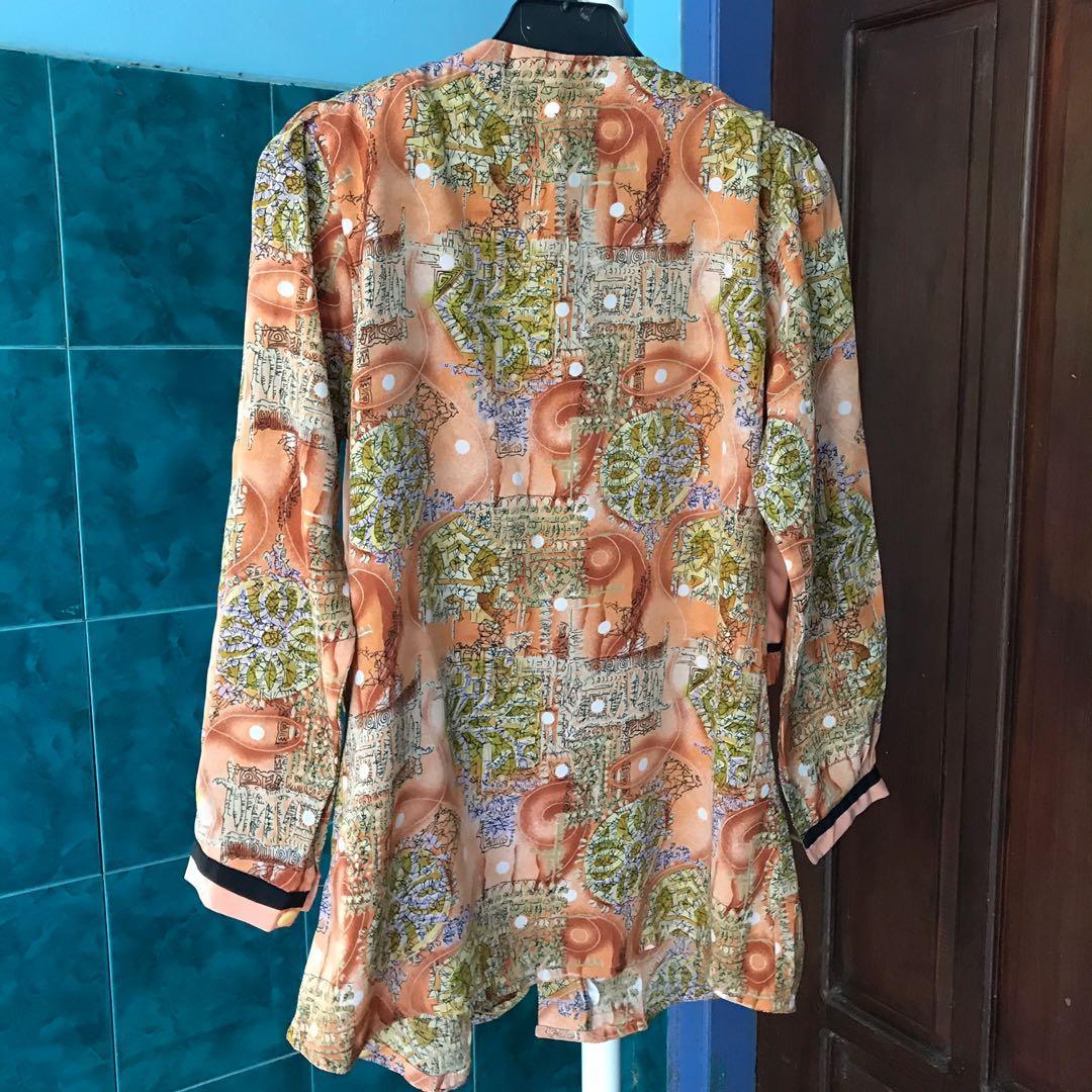#BAPAU Batik blouse orange