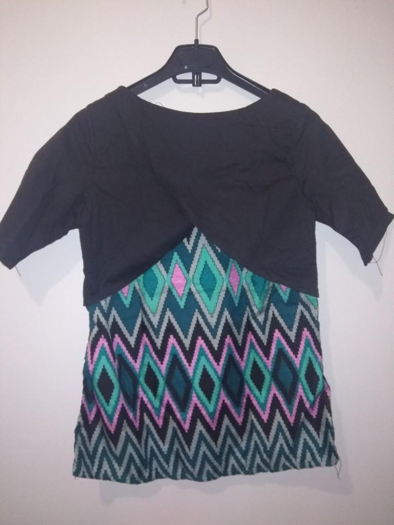 #BAPAU Blouse hitam batik
