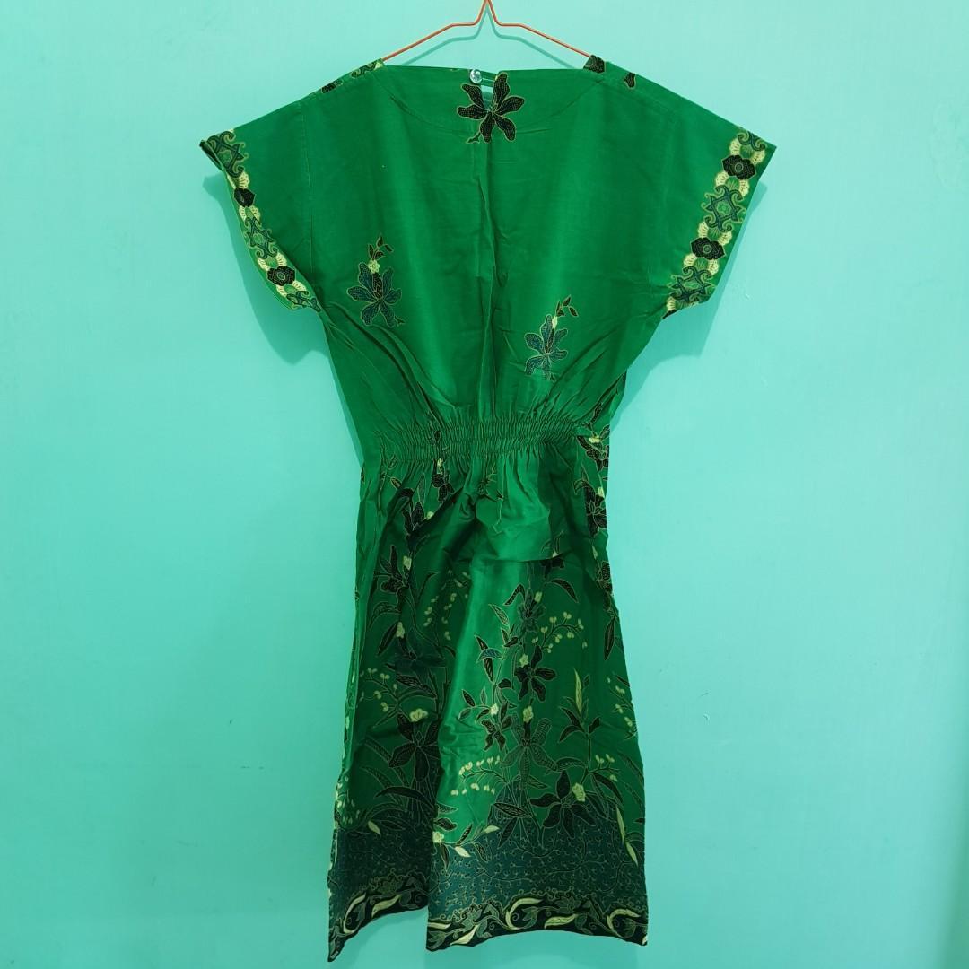 #BAPAU Dress Batik Hijau