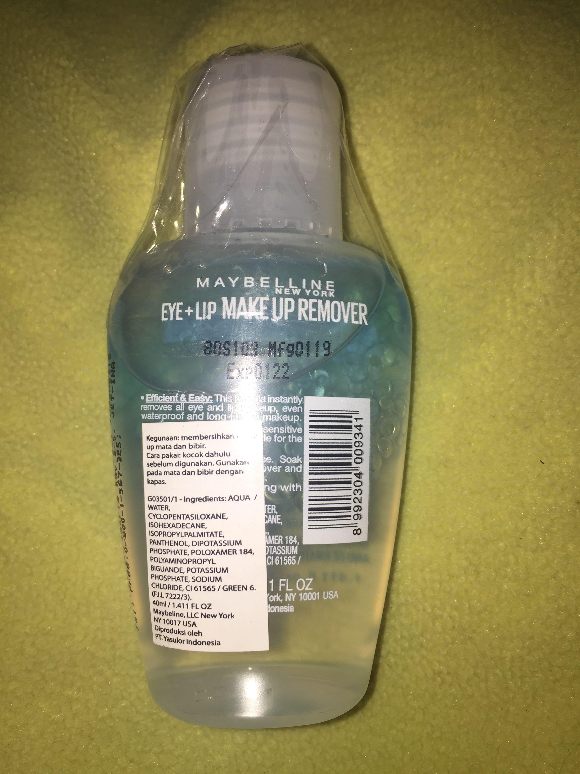 #BAPAU Maybelline Eye+Lip Make Up Remover