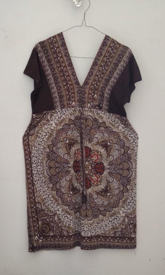 #BAPAU Batik Top, midi dress etnik, baby doll batik