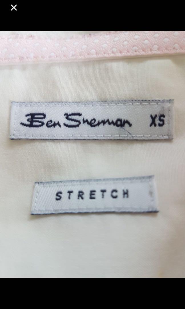 Ben Sherman White Tie shirt XS top designer luxury branded