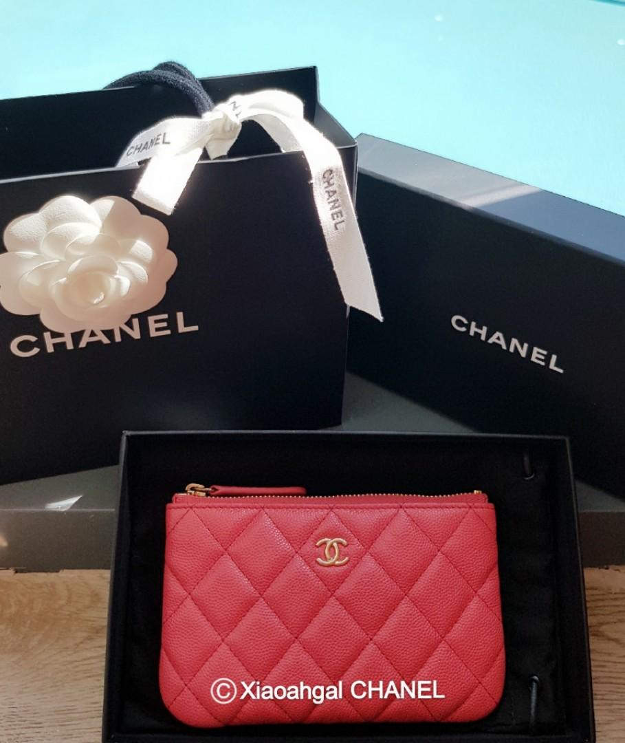 ✔RESERVE in Instalments✔🌟BIDDING🌟 17C Chanel cuba collection pink cavair gold hardware ocase wallet clutch pouch