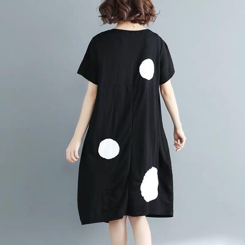 Big Dots Irregular Hem Dress