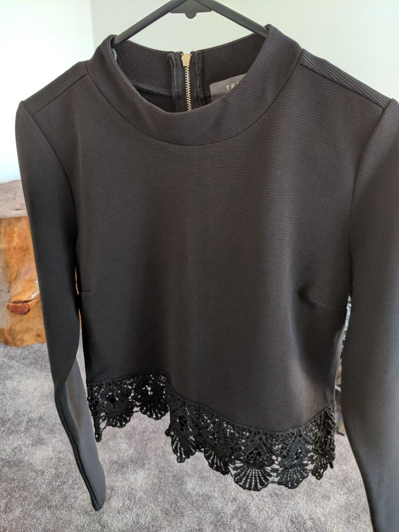 Black high collar full sleeve top