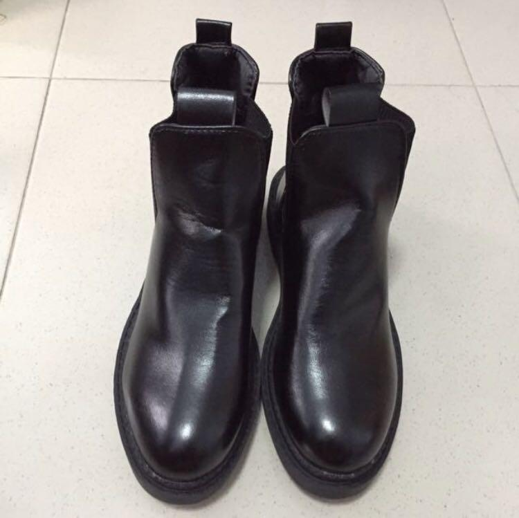 Black Leather Shoe For Female