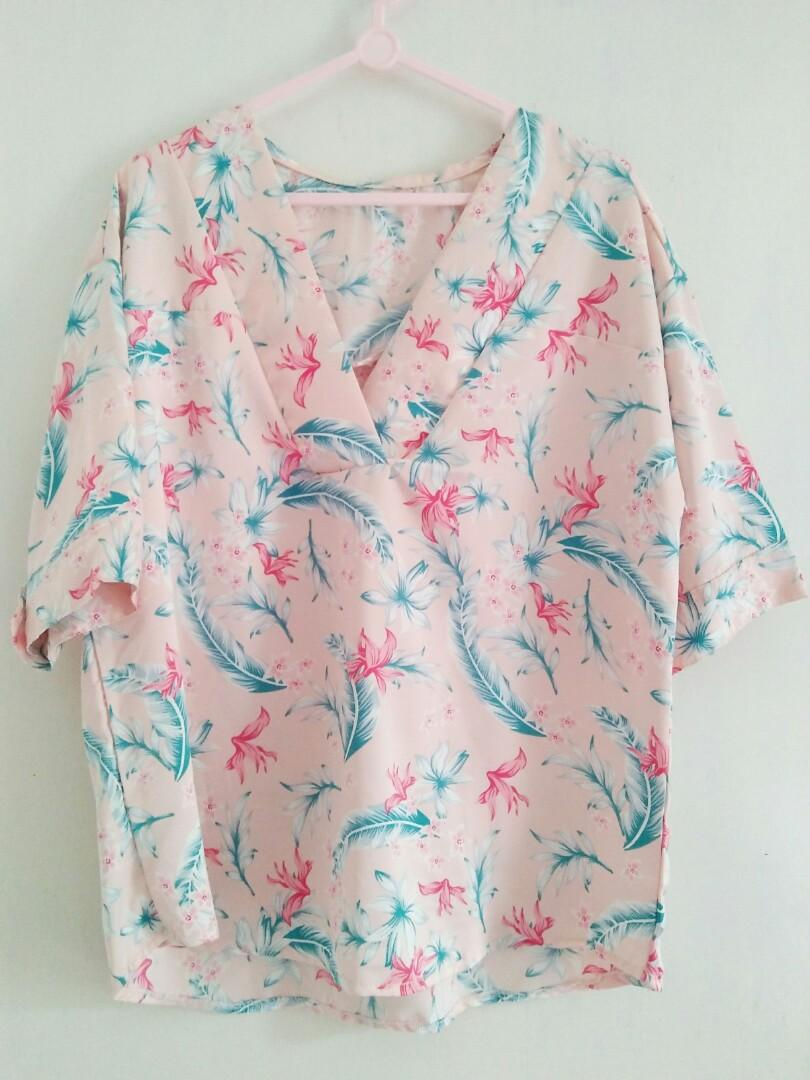 Bluse motif bunga candy floss by mayoutfit