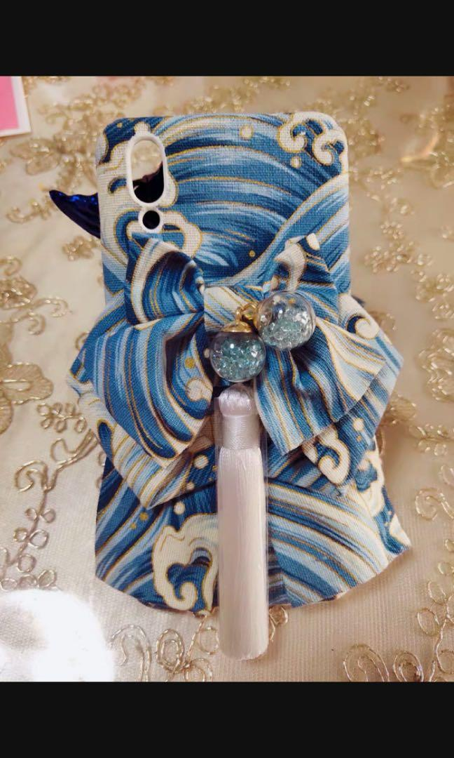 BN Made to Order Japanese Obi kimono phone cases iPhone 6 7 8 Samsung plus galaxy