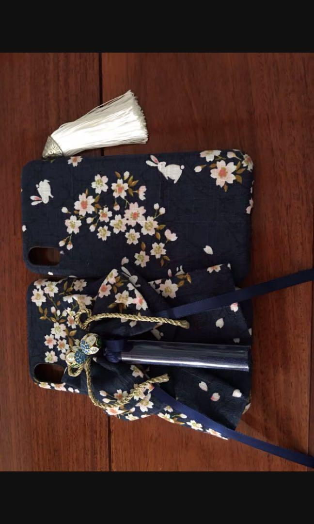 BN Made to order Traditional Japanese Obi Belt Kimono phone case cover iPhone 6 7 8 plus Samsung galaxy
