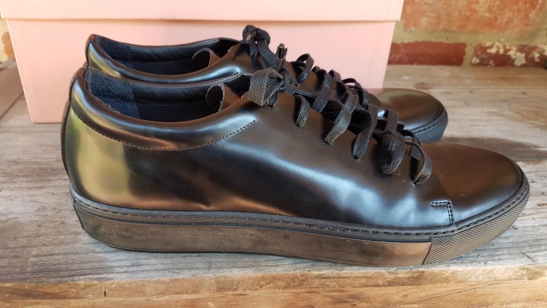 BNIB Acne Studios Black Leather Adrian Sneakers 12 PAYED $500