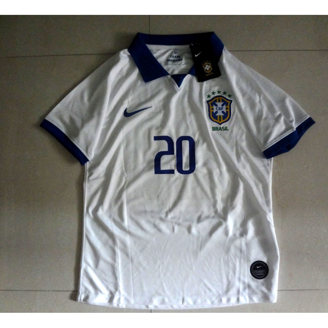 ba79e328809 Brazil 2019 Copa America Firmino 100 Years Anniversary Player Version Jersey