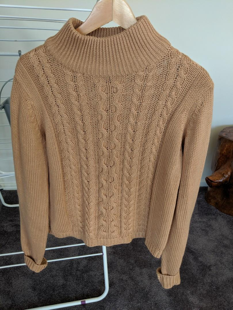 Brown high neck sweater