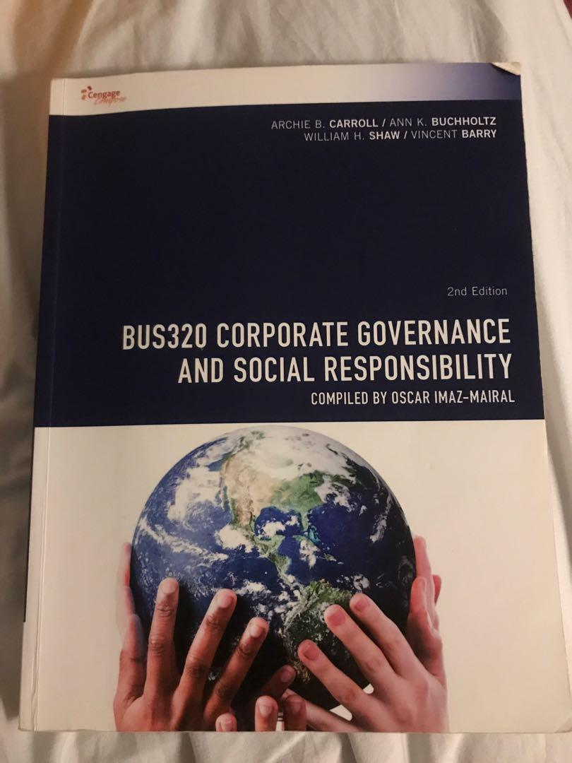 BUS320 Corporate governance and social responsibility