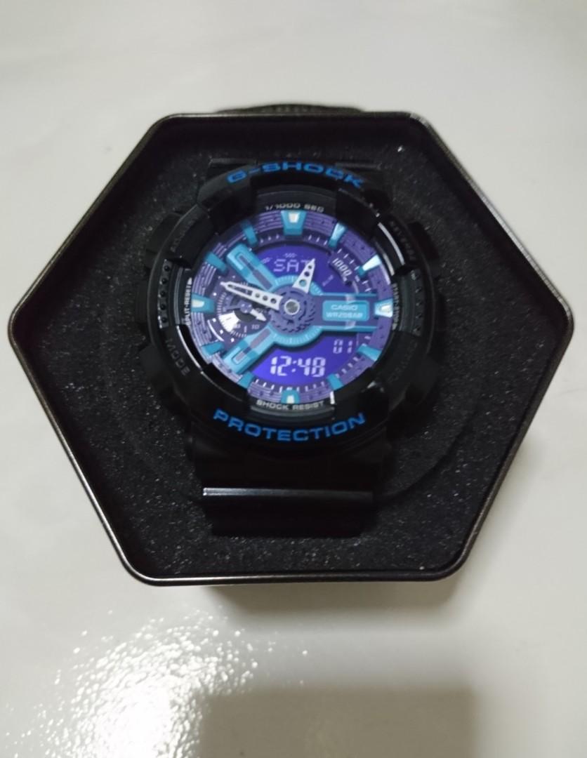 Casio G-Shock Black - Blue GA-110BR-5ADR (Authentic)