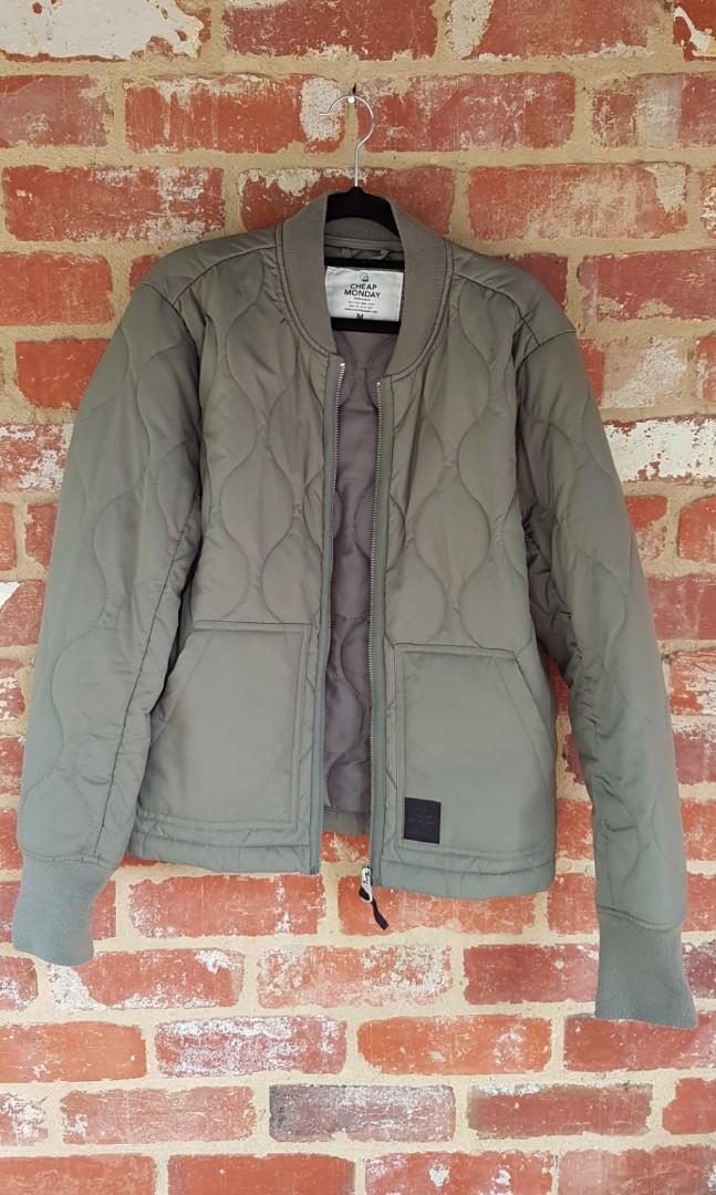 Cheap Monday Trouble Bomber Jacket M Green Kahki PAYED $150