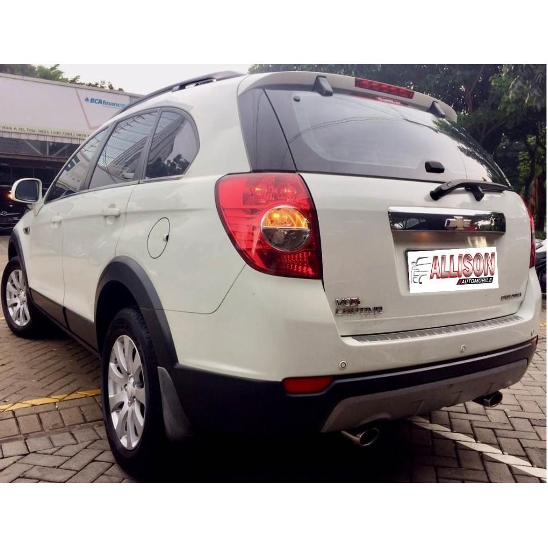Chevrolet Captiva Diesel Facelift 2.0 AT 2013 Putih Dp 48,9 Jt No Pol Ganjil