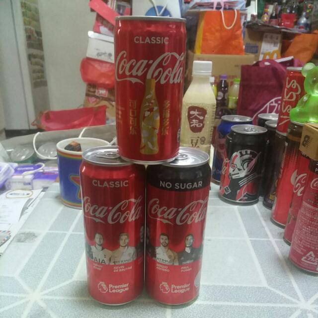 Coca Cola 可口可樂 - 星架坡180'll 迷你罐 + 英超罐2款